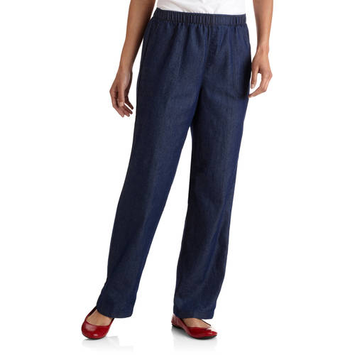 White Stag Women's Elastic Waist Woven Pull-On Pants Available in Regular and Petite