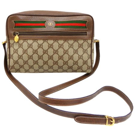 4e29042b93f5 Gucci - Supreme Monogram Gg Ophidia Medium Camera 232355 Beige/ Brown  Coated Canvas Cross Body Bag - Walmart.com