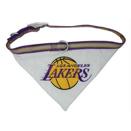 Los Angeles Lakers Dog Collar Bandana - Medium - image 1 de 1