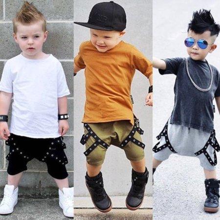 Toddler Kids Baby Boys Girls Cotton Harem Pants Shorts Leggings Casual Sport Pants