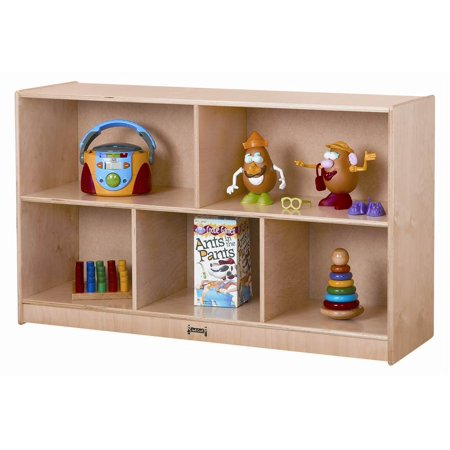 Jonti Craft Low Mobile Single Storage Unit w 5 Cubbies