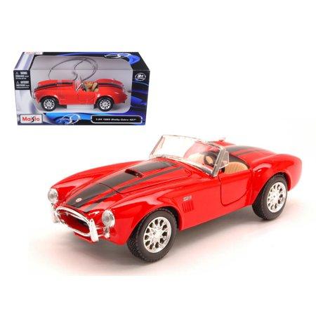 1965 Shelby Cobra 427 Red 1/24 Diecast Model Car by Maisto