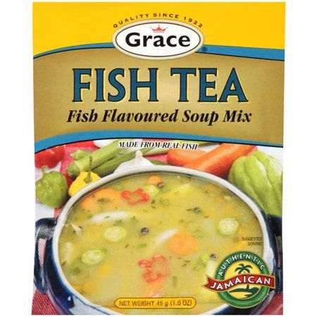Grace fish tea flavored soup mix 1 6 oz for Fish tea soup