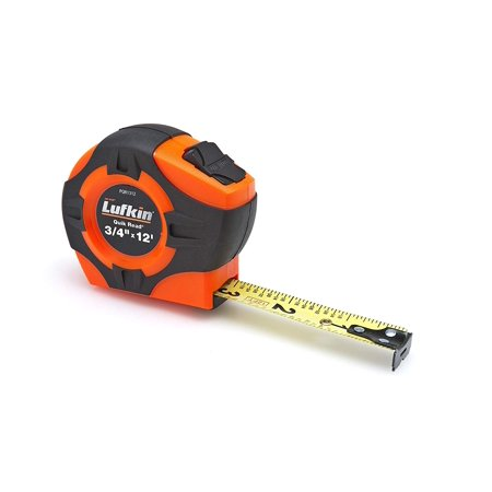 PQR1312 Quickread Power Return Tape, 3/4-Inch by 12-Feet, Hi-Viz Orange, Full length clear coat for more durable markings By Lufkin ()