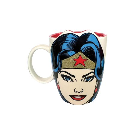 Enesco Sparkly Tiara Wonder Woman Mug - DC Comics Justice League Coffee Mug