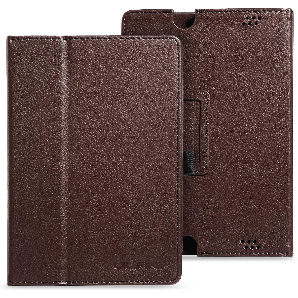 ULAK PU Leather Folio Stand Case Cover for Amazon New Kindle Fire HD 7 Inch  - 2013 Released (Previous Generation - 3rd) with Auto Sleep/Wake Feature Valentine's Day(Brown)