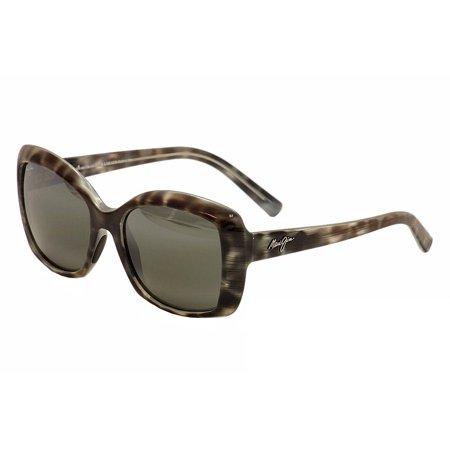 Maui Jim Orchid MJ735 MJ/735 11S Grey Tortoise Fashion Polarized Sunglasses (Maui Jim Titanium Sunglasses)