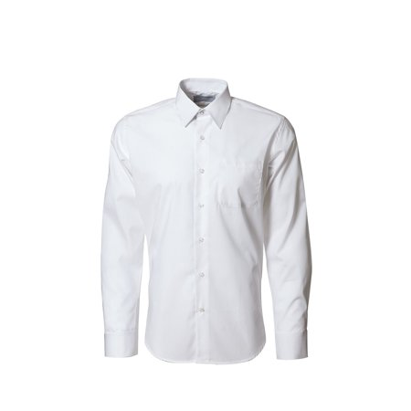 Men's White Laydown Collar Microfiber Tuxedo Shirt