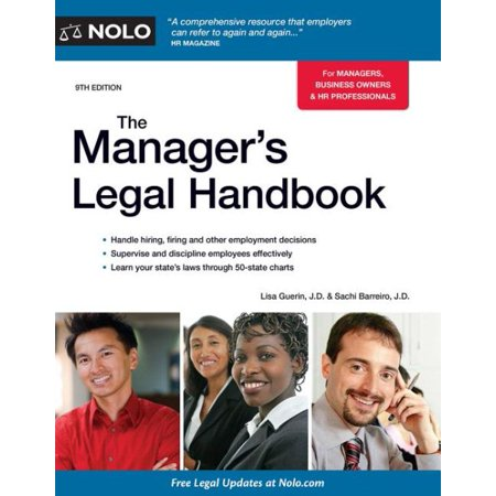 The Manager's Legal Handbook (Self Publishing Legal Handbook)