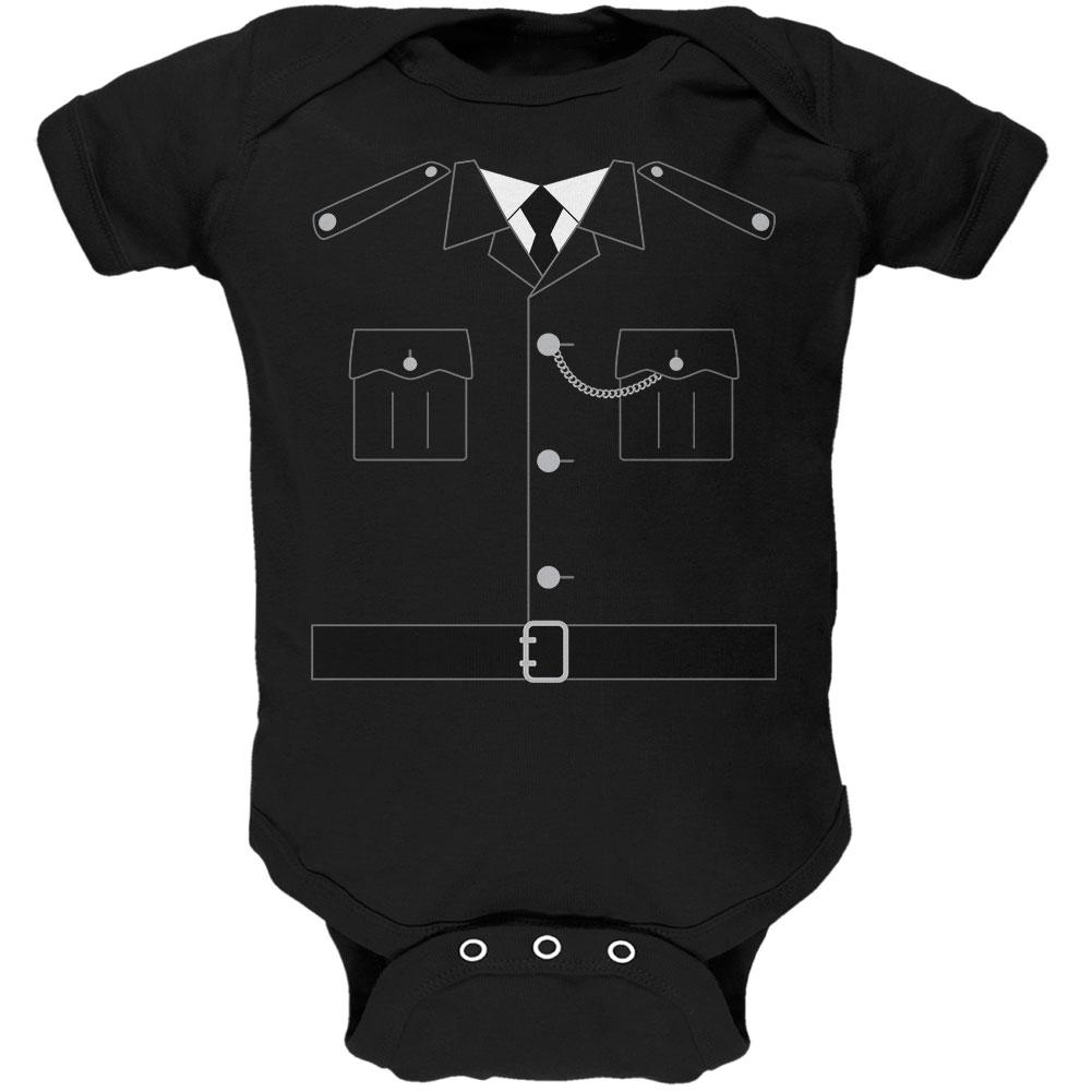 Halloween British Bobby Copper Police Costume Soft Baby One Piece