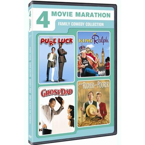 4 Movie Marathon: Family Comedy Collection - Pure Luck / King Ralph / Ghost Dad / For Richer Or Poorer (Anamorphic Widescreen)