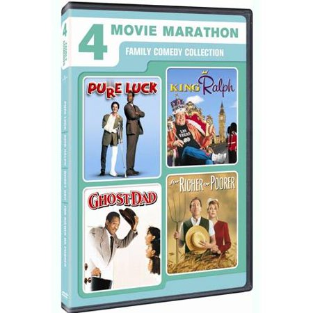 4 Movie Marathon  Family Comedy Collection   Pure Luck   King Ralph   Ghost Dad   For Richer Or Poorer  Anamorphic Widescreen