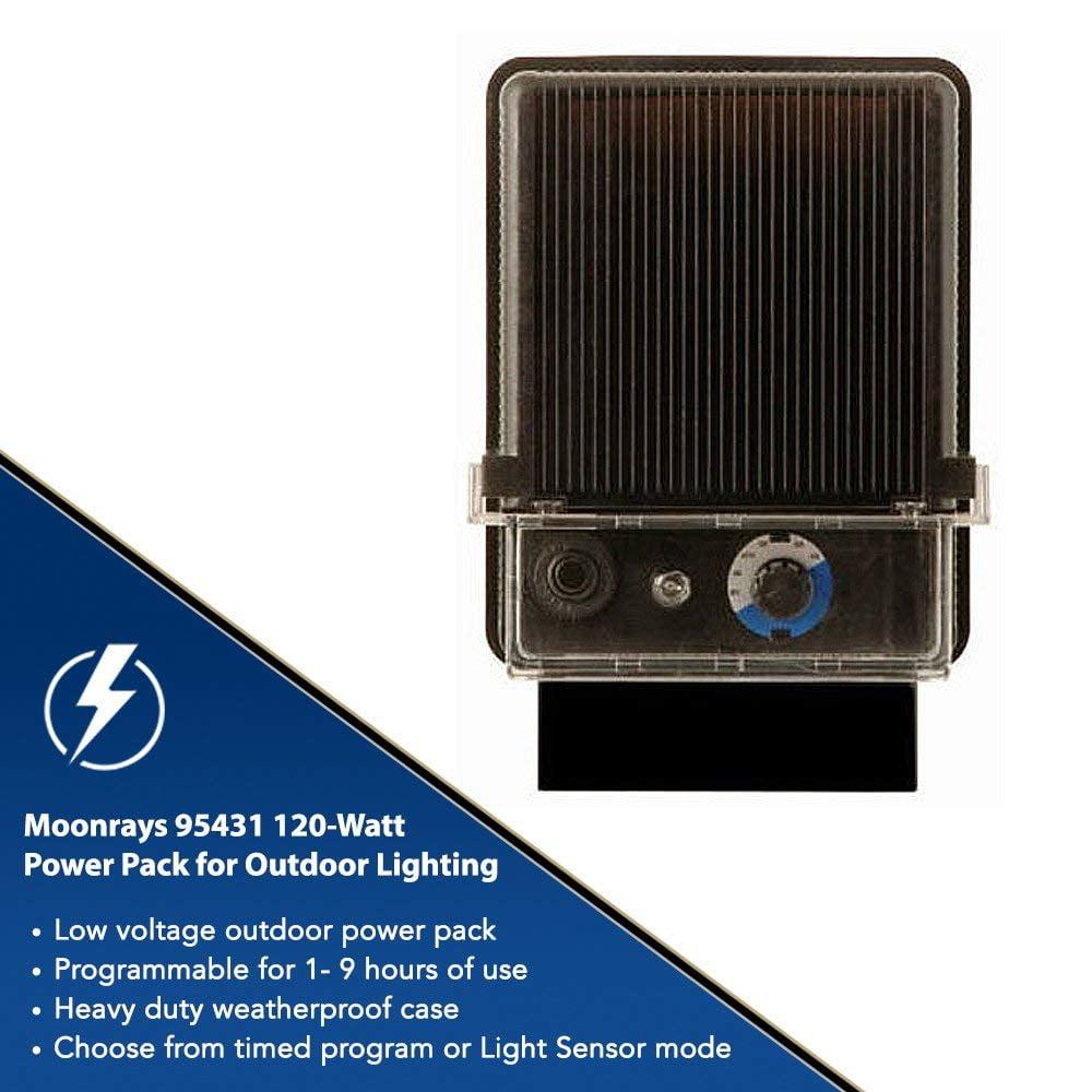 Garden Lighting Equipment POWER PACK OUTDOOR LIGHTING 120 Watt Light Sensor Black All Weather Low Voltage Other Garden Lighting Equipment