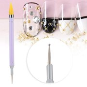 Dotting Pen Dual Ended Drawing Painting Pen Nail Wax Stone Picker Manicure Tool for Nail Art(Purple) - image 3 of 7