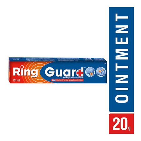 Ring Guard Anti-Fungal Medicated Cream -Relief from Ringworm Athlete's Foot, Itching etc-