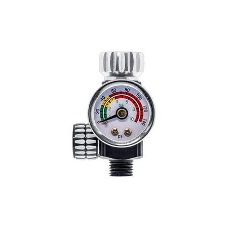 Master Pro Series Spray Gun High Flow Air Pressure Regulator Gauge At 400 Pro Regulator