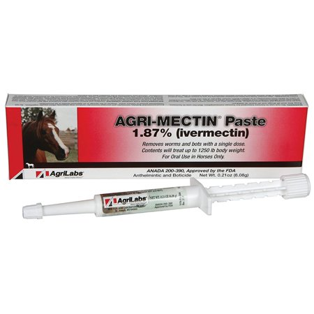 Agri-Mectin Paste ivermectin wormer, Contains 1.87% ivermectin By Agrilabs,USA