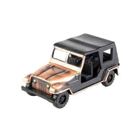 Vintage Jeep Die Cast Metal Collectible Pencil Sharpener
