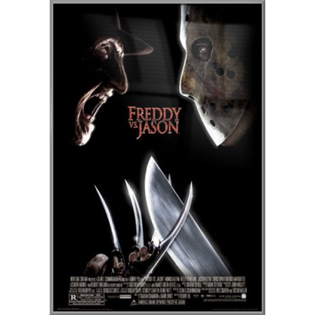 Freddy Vs. Jason - Framed Movie Poster / Print (Regular Style) (Jason Voorhees Vs. Freddy Krueger) (Size: 27
