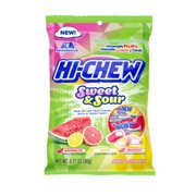 (Price/CASE)Hi-Chew 45120 Hi-Chew Sweet & Sour Mix 3.17oz Peg Bag 6Ct Display Ready Master Case (Assorted Mix Of Grapefruit Lemon & Watermelon)