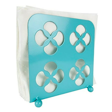 Home Basics Trinity Collection Turquoise Tabletop Napkin Holder