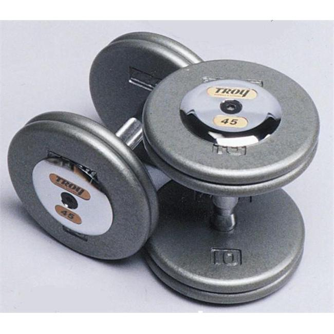 Troy Barbell HFD-150C Pro-Style Dumbbell With Chrome End Cap - 150 Pounds - Sold as Pairs