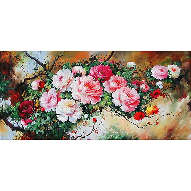 5D DIY Full Drill Diamond Painting Flowers Cross Stitch Embroidery Mosaic Kit