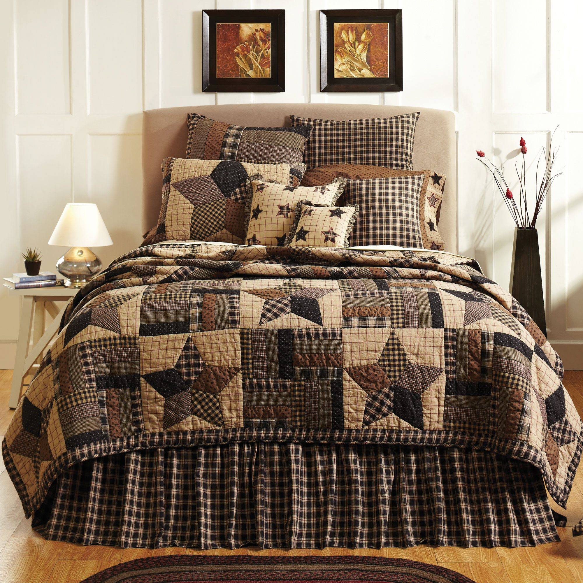 Bingham Star 7 Piece Country Quilt Set - Walmart.com : country star quilt - Adamdwight.com