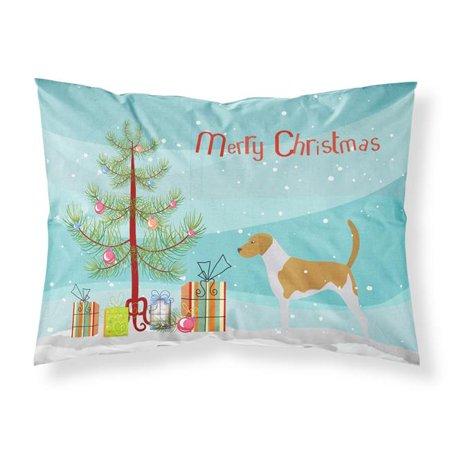 Carolines Treasures BB2916PILLOWCASE American Foxhound Merry Christmas Tree Fabric Standard Pillowcase - image 1 de 1
