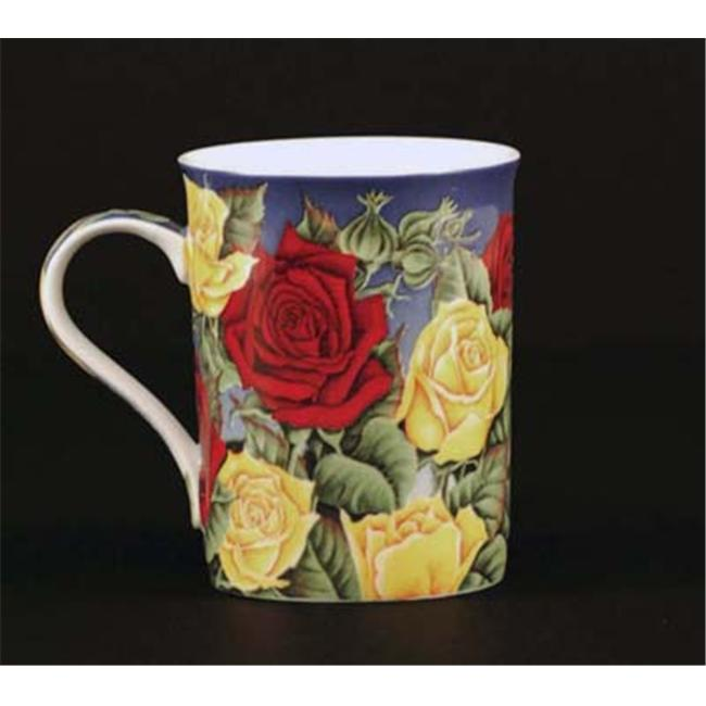 Euland China FL0-004R Set Of Two 12-Ounce Mugs - Roses
