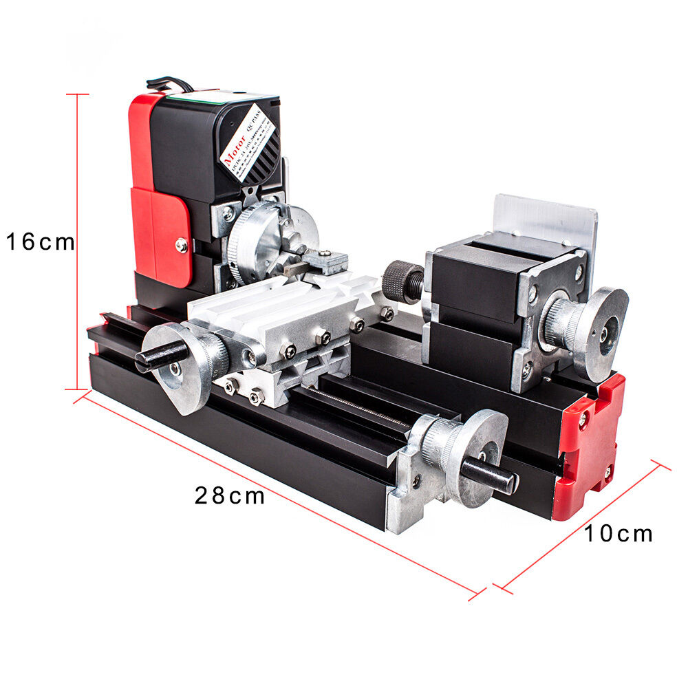 DIY Tool Metal Motorized Mini Lathe Machine 20000rev/min