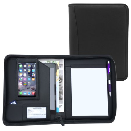 Junior Size Executive Padfolio with Notepad, Holds Business Cards, Interview Resume,Checks by MSP