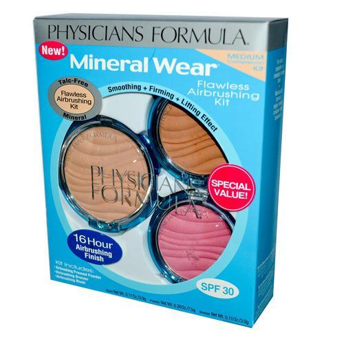 Physicians Formula Mineral Wear Flawless Airbrushing Kit, Medium Complexion - 1 Ea, 6 Pack