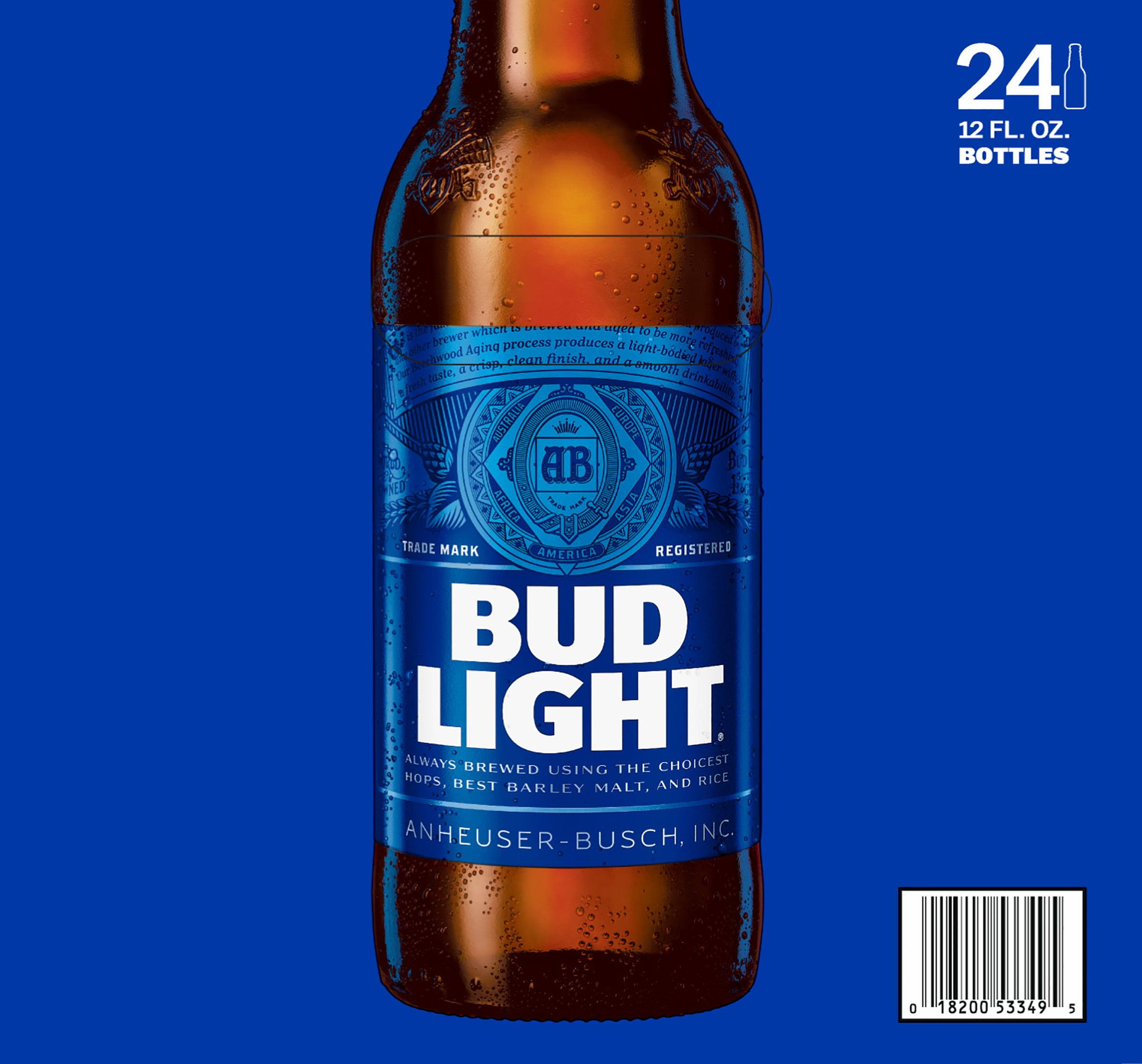 Bud Light Beer 24 12 Fl. Oz. Bottles   Walmart.com