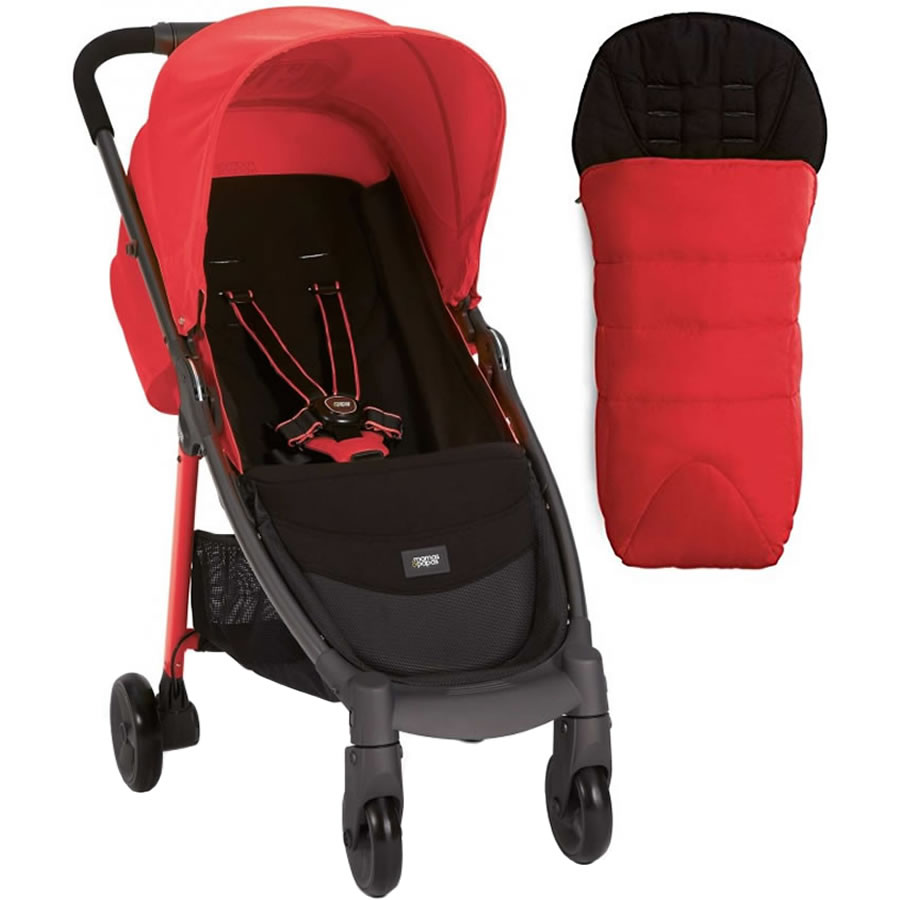 Mamas & Papas Armadillo City Stroller With Footmuff, Coral Pop