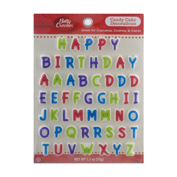 Swell Betty Crocker Candy Cake Decorations 1 1 Oz Walmart Com Funny Birthday Cards Online Elaedamsfinfo