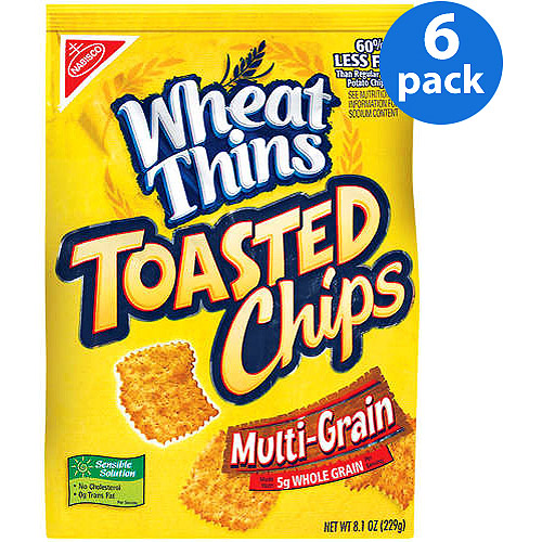 Nabisco Wheat Thins Toasted Chips, Multi-Grain, 8.1 oz (Pack of 6)