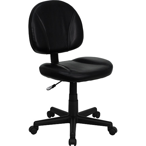 Leather Ergonomic Task and Computer Chair, Black