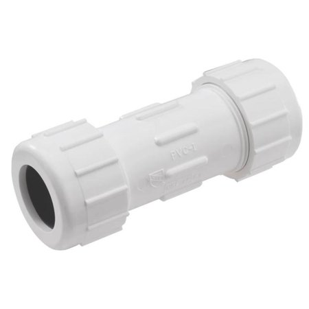 """King Brothers CPC-0500 SCH 40 PVC Compression Coupling, 1/2"""""""