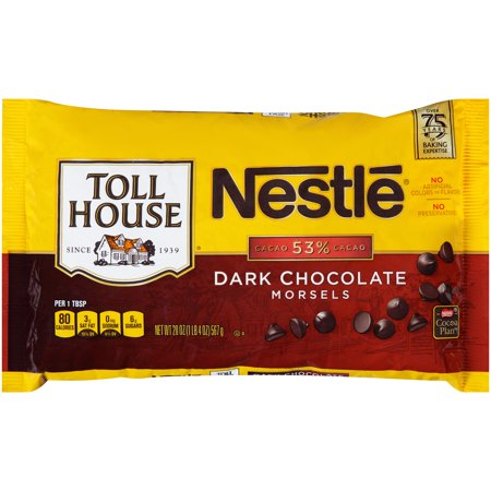 Nestle Toll House Dark Chocolate Morsels 20 Oz  Bag
