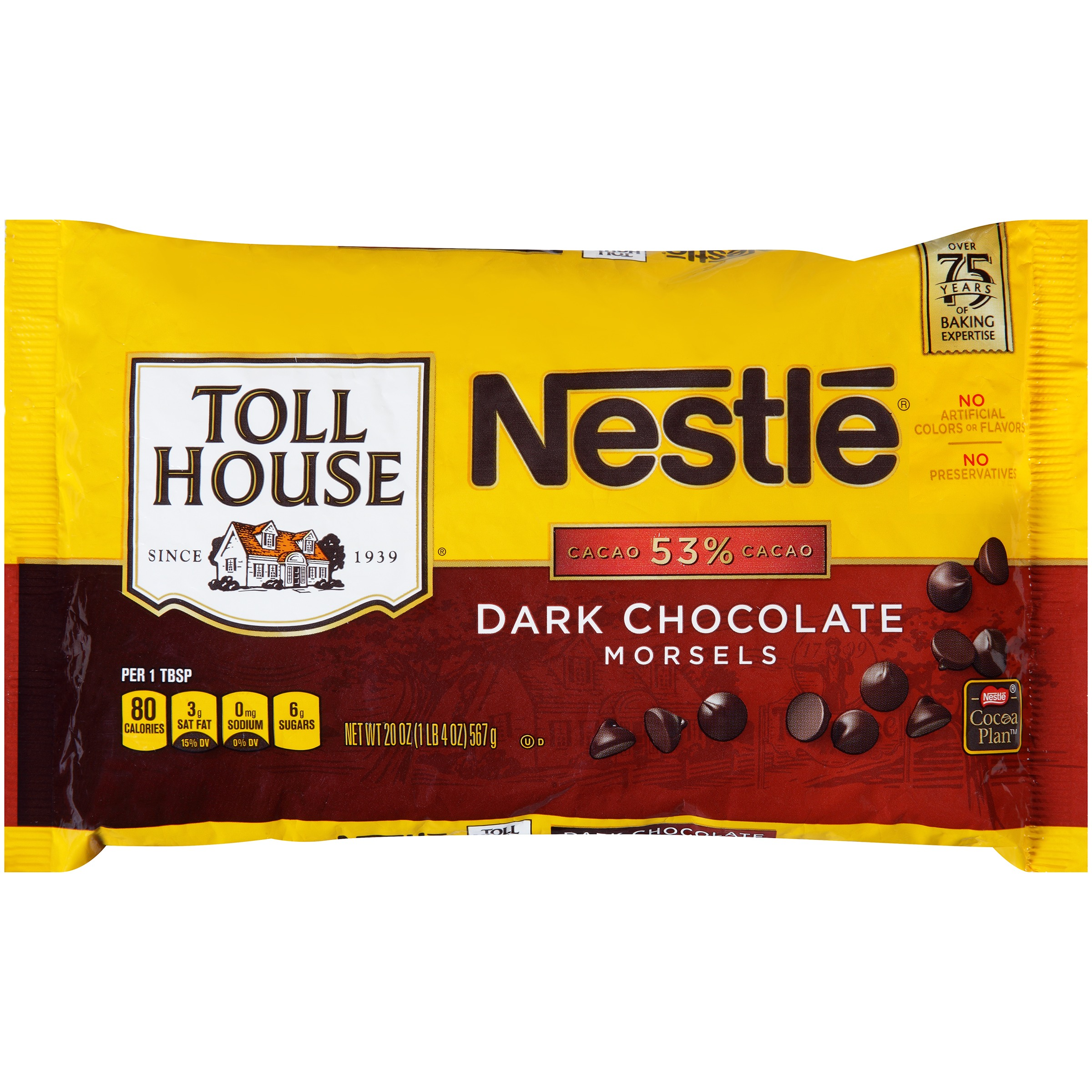 Nestle TOLL HOUSE Dark Chocolate Morsels 20 oz. Bag
