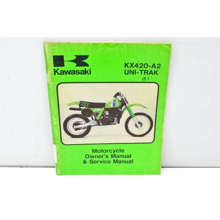 KX420-A2 UNI-TRAK Motorcycle Owner's Manual & Service Manual