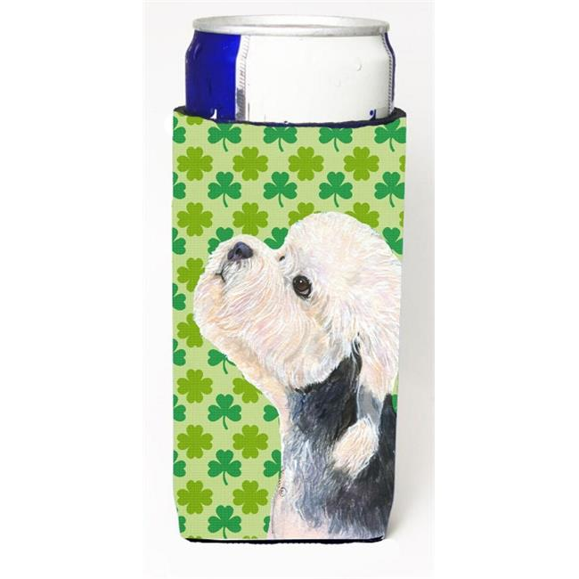 Dandie Dinmont Terrier St. Patricks Day Shamrock Michelob Ultra bottle sleeves For Slim Cans - 12 oz. - image 1 of 1