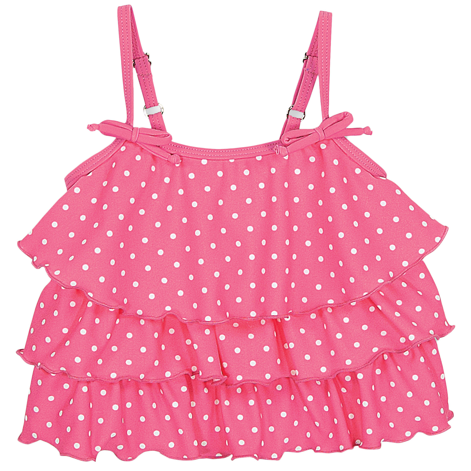 Sun Smarties Baby and Toddler Girl Tankini - Pink Polka Dot Design - Sleeveless Swim Top