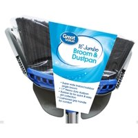 """Great Value 16"""" Jumbo Broom with & Dustpan by Wal-Mart Stores, Inc."""