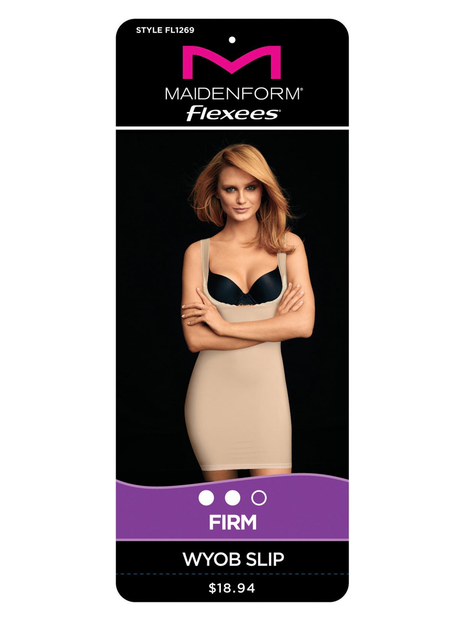e81279d798cab Flexees by Maidenform - Firm WYOB Slip Shapewear - Walmart.com