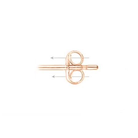 Garnet CZ Drop Style Square Stud Earrings 14K Rose Gold - image 3 de 5