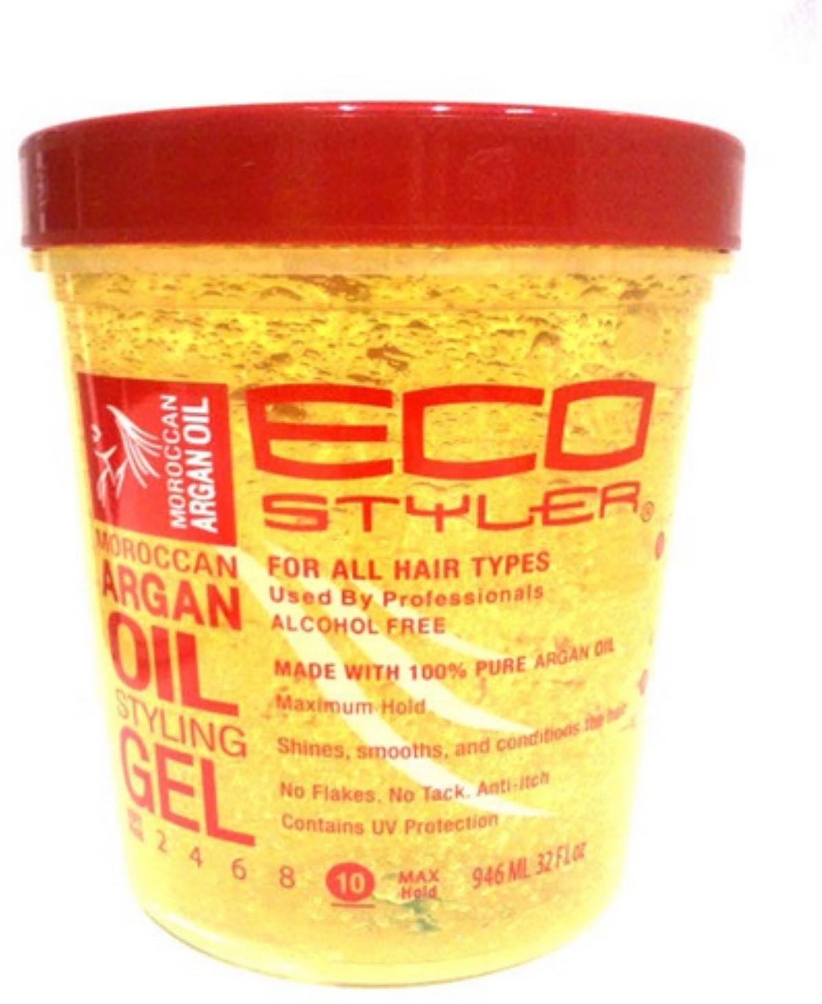 Ecoco Ecostyler Styling Gel Moroccan Argan Oil 32 Oz Walmart