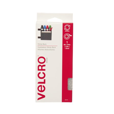 - VELCRO Sticky Back, 6' x 3/4