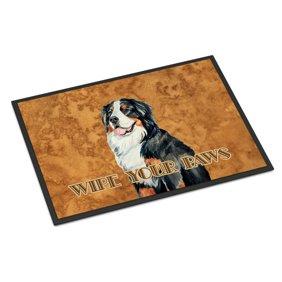 Bernese Mountain Dog Wipe Your Paws Door Mat Walmart Com Walmart Com
